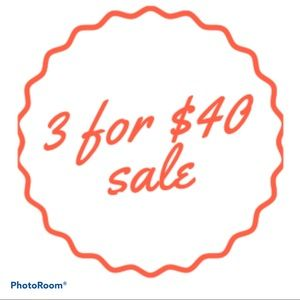 3 for $40! PLEASE READ